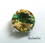 Swarovski Rivoli, 14мм, цвет LuminousGreen, 1шт